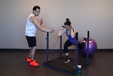 Evolution Online Training System guides you through effective workouts