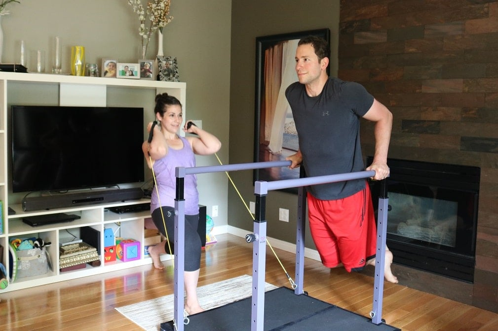 Do partner home exercises on your Evolution