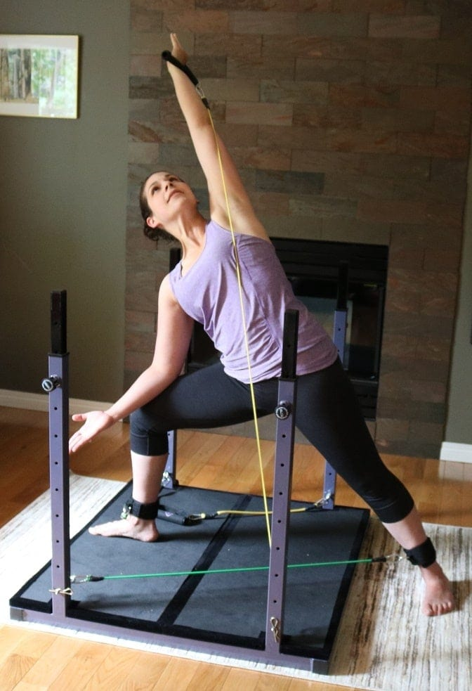 Yoga Workouts at Home on the Evolution created by Elysa Shira, Side Angle