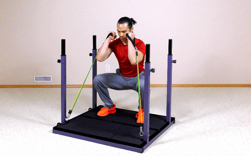 How to Do Squats With Resistance Bands