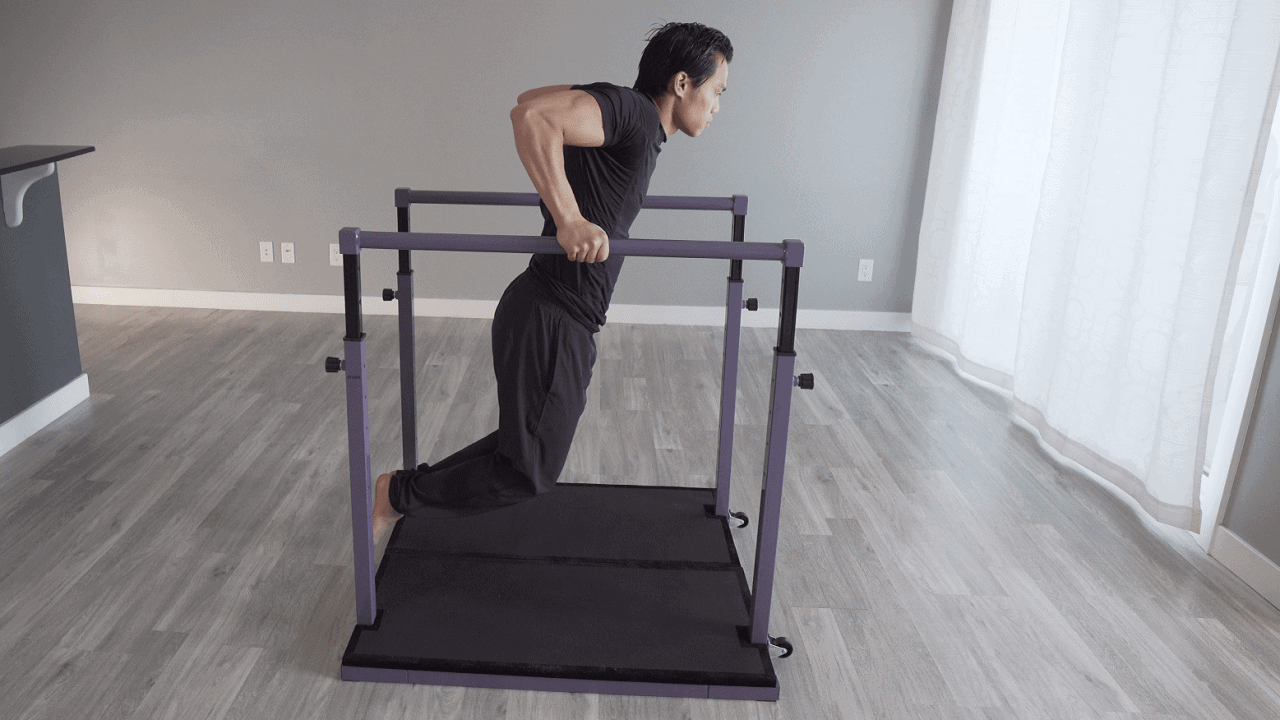 The parallel bars on the Evolution take your workouts to the next level